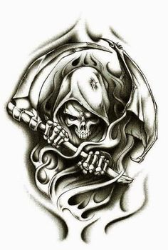 Grim Reaper Tattoo Design Idea 42
