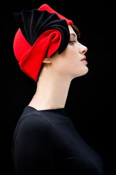 I can't get enough of hats, especially beautiful ones like these by designer Behida Dolic