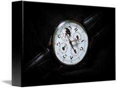 """Breguet Moonphase Triple Calendar Swiss Watch (Canvas) $52 - 7"""" x 10"""" (3.75cm thick) / Ultra-high quality photo with 24 million pixels (24,000,000 pixels; 300 dpi; 6000 x 4000) / Methodically examined photo is 100% original and can never be found anywhere on the web. Breguet is an exclusive luxury Swiss brand known for numerous watch-making techniques including the tourbillon…"""