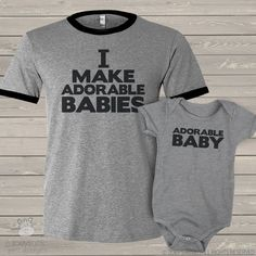 e34ffa03 I make adorable babies® shirts dad and baby matching ringer style t-shirt  and bodysuit gift set ORIGINAL MDF1-001set
