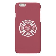 Shop Firefighter EMT White iPhone Case created by bonfirefirefighters. Firefighter Crafts, Firefighter Family, Firefighters Wife, Personalised Gift Shop, Custom Framing, Favorite Quotes, Throw Pillows, T Shirt, Fire Fighters