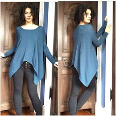 Catharine Malandrino Teal Knit Drapey Top XS This top is just gorgeous! I bought from an amazing posher, wore it a few times, got tons of compliments, and now it's time for a new home. In excellent shape though there is a tiny snag where my finger is pointing in the last set of pics but it happens to be where the sleeves bunch near the wrists so you won't ever see it. There are even snaps to hold your bra in place at the shoulders. Catherine Malandrino Tops Tunics