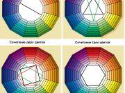 Сочетание двух, трех, четырех и шести цветов. Таблица