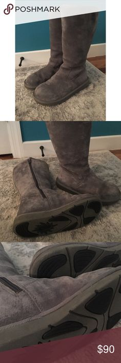 Tall Gray Zip Up Uggs Tall Gray Zip Up Uggs, barely worn, authentic UGG , size 7 UGG Shoes Winter & Rain Boots