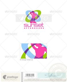 Activities & Leisure Logo  1489 — Photoshop PSD #disco #woman • Available here → https://graphicriver.net/item/activities-leisure-logo-1489/497413?ref=pxcr