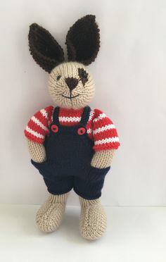Beige knitted bunny with dark brown eye patch and dark brown ears great Easter gift by Nodnook on Etsy Little Cotton Rabbits, Dark Brown Eyes, Etsy Uk, Easter Gift, Small Businesses, Ears, Bunny, Buy And Sell, Teddy Bear
