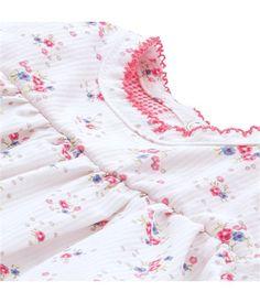 Baby-Ensemble für Mädchen, Kleid und Bloomer, Seersucker mit Print
