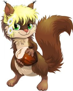 Cute Squirrel - Free Animal Cartoon Download - Lots of free images on this site