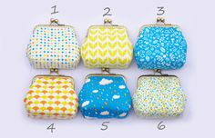 Geometric Floral Summer little coin Purse by lazydoll on Etsy, $12.90