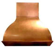 custom copper range hood Texas Lightsmith Model #54