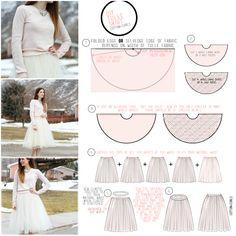 Jupon en tulle : VERY simple tulle skirt tutorial Diy Tutu, Diy Tulle Skirt, Tulle Skirt Wedding Dress, Tulle Skirt Tutorial, Diy Dress, Wedding Dresses, Tulle Skirts, Diy Circle Skirt, Circle Skirt Tutorial