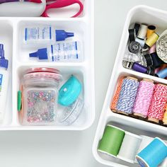 A Surprising Solution for Smaller Sewing Supplies