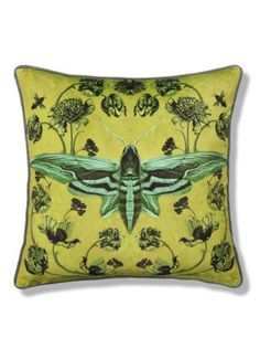 Etched Moth Cushion | M&S