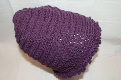 Womens Purple Slouch Hat Teens Slouchy Cap Crochet by lanacooper,