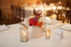 Simple wedding centerpieces | Jessica Cochran
