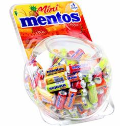 Assorted Mentos Mini Candy Rolls - 150CT Tub $49.99