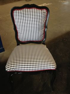 Houndstooth Chair...with red accent.