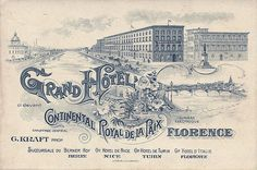 Grand Hotel Florence Italy Card~Label by Art of the Luggage Label, via Flickr