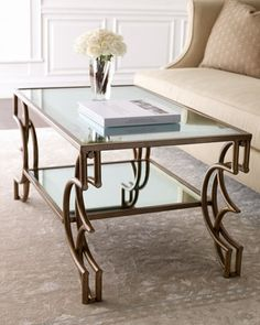 Mirrored Coffee Table at Horchow.a mix of vintage and modern...this is the way it's done!