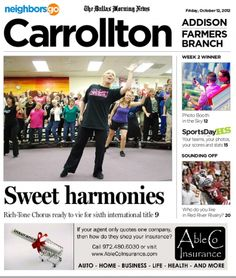 10/12: With more than 100 members, the Rich-Tone Chorus is the largest area chapter of the Sweet Adelines, which promotes a barbershop-style music.