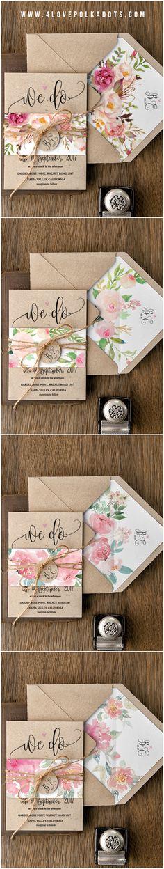 We do ! Floral Eco Wedding Invitations #botanical #floral #colorful #flowers #boho #rustic #eco #ecofriendly #weddingideas