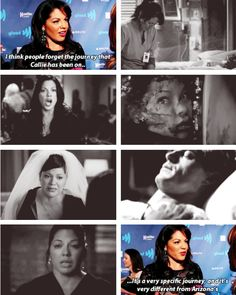Callie's journey is different than Arizona's. I LOVE YOU CALLIEEE *_*