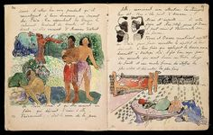 """Pages from Gauguin's journal """"Ancien culte Mahori"""""""