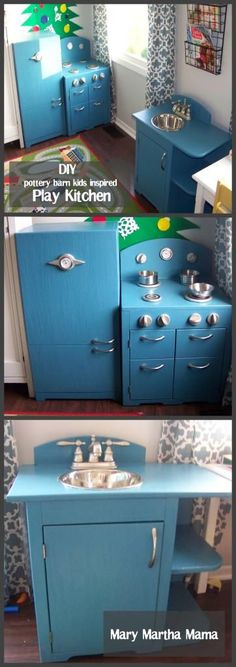 DIY play kitchen that I built for my sons for $106!