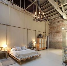 Industrial Style Swing Bed!