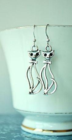 Earrings for a cat lover :)
