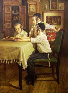Learning Torah By Boris Dubrov Cultura Judaica, Arte Judaica, Jewish History, Jewish Art, Russian Painting, Russian Art, Book People, Winter Scenery, Artists Like