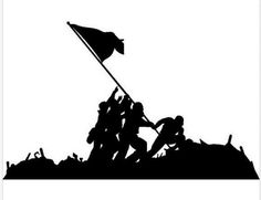 Soldiers Vinyl Wall Decal Battle of Iwo Jima WWII Military Soldier Kid Room Decor Mural Art Wall Sticker Bedroom Home Decoration Iwo Jima Flag, Battle Of Iwo Jima, Soldier Silhouette, Patriotic Images, Rock Poster, Military Tattoos, Cricut, Military Art, Military Soldier