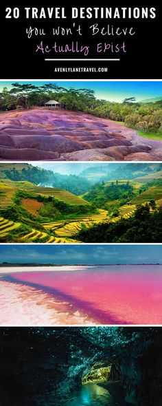 20 UNREAL Travel Destinations you have to see!! Click through to read the full post!