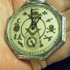 Masonic Pocket Watch with Degree Symbols