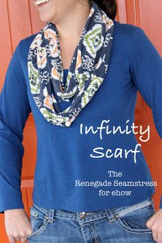 DIY: Upcycled Infinity Scarf   eHow Crafts   eHow