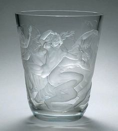 Image result for Simon Gate (Swedish, 1883-1945), Orrefors, Engraved Glass Vase. (Enlarge)
