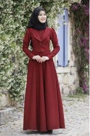 Rana Zen - Endam Elbise - Bordo