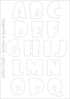 Bubble Letters Alphabet, Bubble Letter Fonts, Alphabet And Numbers, Diy Arts And Crafts, Paper Crafts, Felt Name Banner, Alphabet Stencils, Graffiti Lettering, Coloring Pages