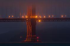Golden Gate Bridge Lights