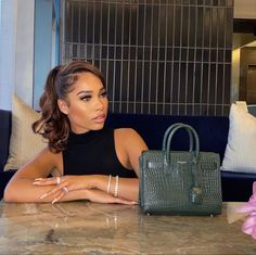 Black Girl Aesthetic, Aesthetic Hair, Baddie Hairstyles, Black Girls Hairstyles, Ponytail Hairstyles, Bougie Black Girl, Vetement Fashion, Black Luxury, Beautiful Black Women