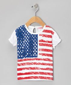 Another great find on #zulily! White American Flag Tee - Infant & Toddler #zulilyfinds