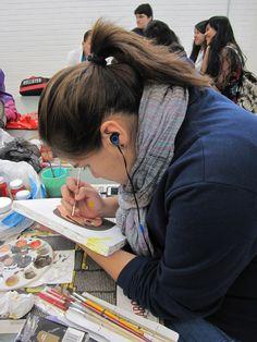 Titulo: Painting with music Autor: Adriana Montserrat Ochoa Morales Fecha de realización: 28/11/15 Apertura de diafragma:2.8 F Velocidad de obturación:1/30 s ISO:100