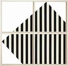 a-beautifulchaos:Daniel Buren ° FranceBuren appropriated a standard format fabric motif of 8.75 cm-wide vertical stripes (which alternate between white and a colour) as a visual instrument, or sign, to 'expose'