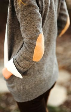 Brown Elbow Patches Grey Cardigan Fashion--buy in mens department there longer and cheaper then womens