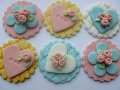 Mothers Day Cupcake Toppers are handmade in by TheCakeTopCompany, £8.95