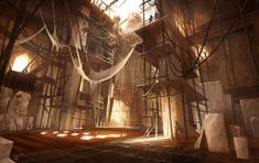 View an image titled 'Scaffolding Art' in our Prince of Persia: The Two Thrones art gallery featuring official character designs, concept art, and promo pictures. Prince Of Persia, Fantasy World, Fantasy Art, Matte Painting, Environment Concept, Visual Development, Fantasy Landscape, Environmental Art, Art Google