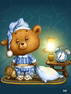 GIFS HERMOSOS: cosas bonitas encontradas en la web Sleep Tight, Bedtime, Good Night Wishes, Good Night Sweet Dreams, Good Night Quotes, Night Time, Good Morning Good Night, Good Night Sleep, Sleepy Bear