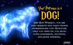 Your Patronus is a Dog. Like Ron Weasley, you are very reserved and many people underestimate you. However, once you open up, you show your compassion, devotion and quick thinking. Harry Potter Quiz, Harry Potter Quotes, Harry Potter Characters, Ron And Hermione, Ron Weasley, Hermione Granger, Expecto Patronum Meaning, Club, Imagination