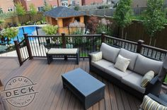 A great space to enjoy some time with friends. Your Deck Company used Trex Transcend decking and railing for this project. #deckbuilder