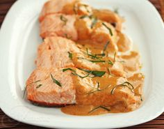 This is the best sauce! Salmon with Thai Coconut Curry Sauce